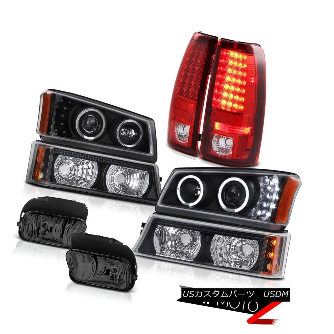 テールライト 2003-2006 Silverado DuraMax Black Halo LED Headlights Signal Taillamps Foglamps 2003-2006 Silverado DuraMax Black Halo LEDヘッドライト信号タイルランプFoglamps
