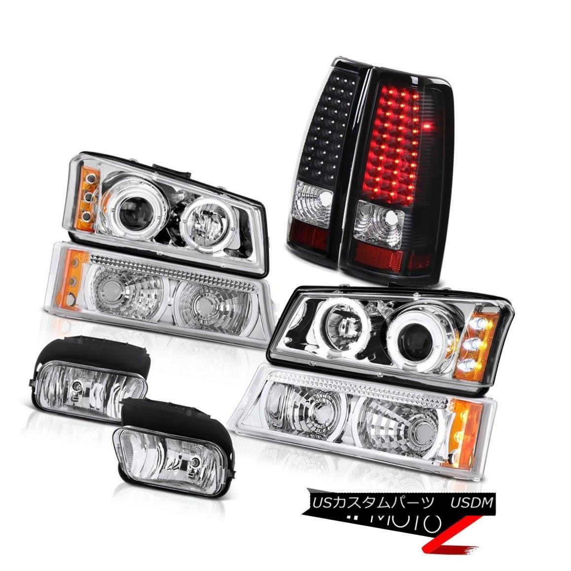 テールライト 2003 2004 Silverado WT LED Angel Eye Headlight Bumper Signal Tail Lamps Foglight 2003年2004 Silverado WT LEDエンジェルアイヘッドライトバンパー信号テールランプFoglight