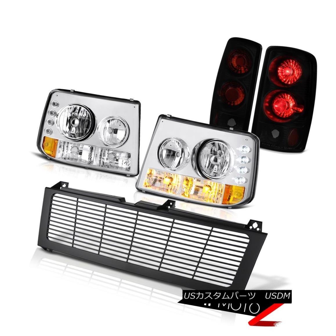 テールライト 2000-06 Suburban 5.3L Signal Headlights Sinister Black Rear Tail Lights Grille 2000-06郊外5.3Lシグナルヘッドライト不快な黒いリアテールライトグリル