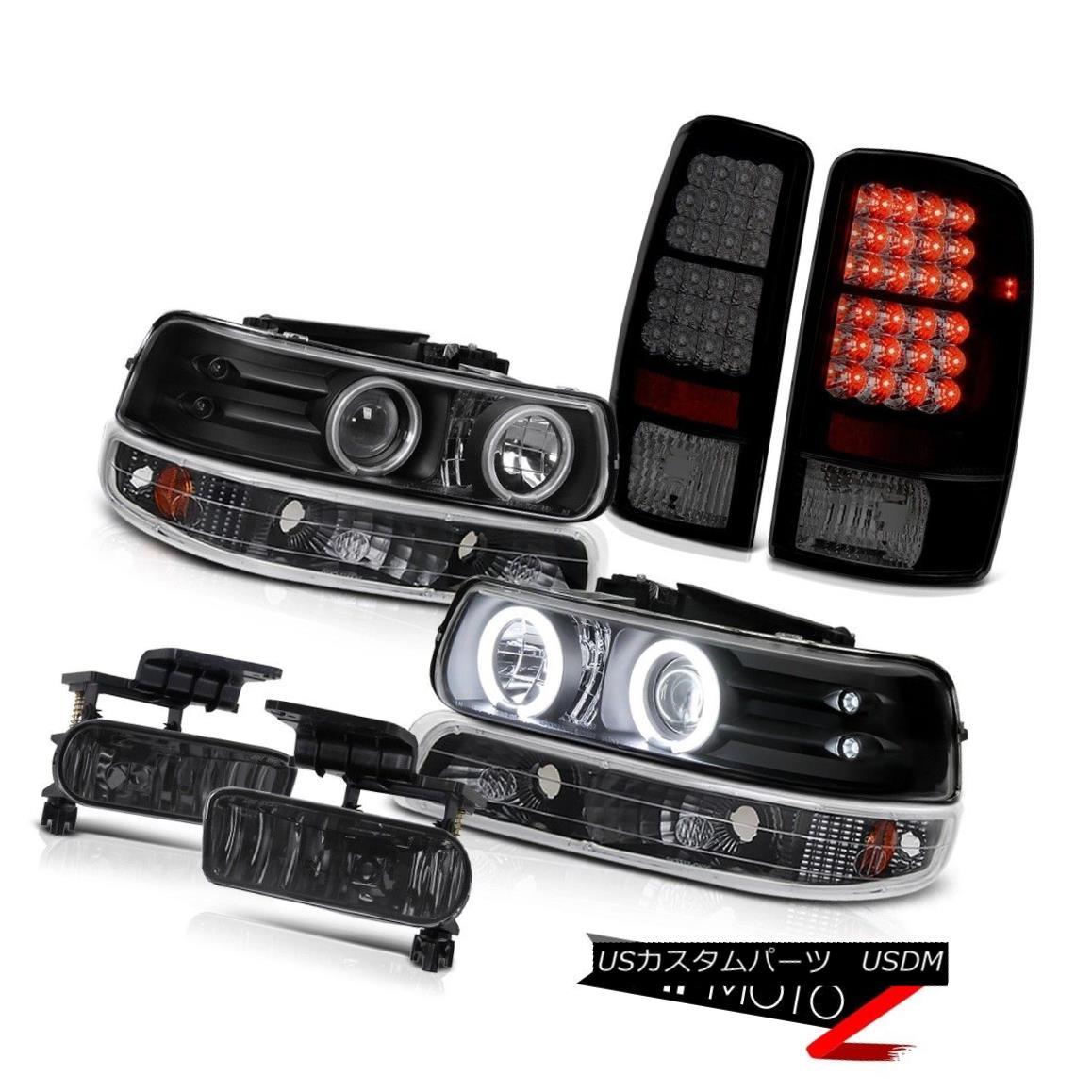 テールライト C.C.F.L Angel Eye Headlights Black Parking LED Taillamp Foglamp 00-06 Tahoe 4.8L C.C.F.LエンジェルアイヘッドライトブラックパーキングLEDタイルランプフォグランプ00-06タホ4.8L