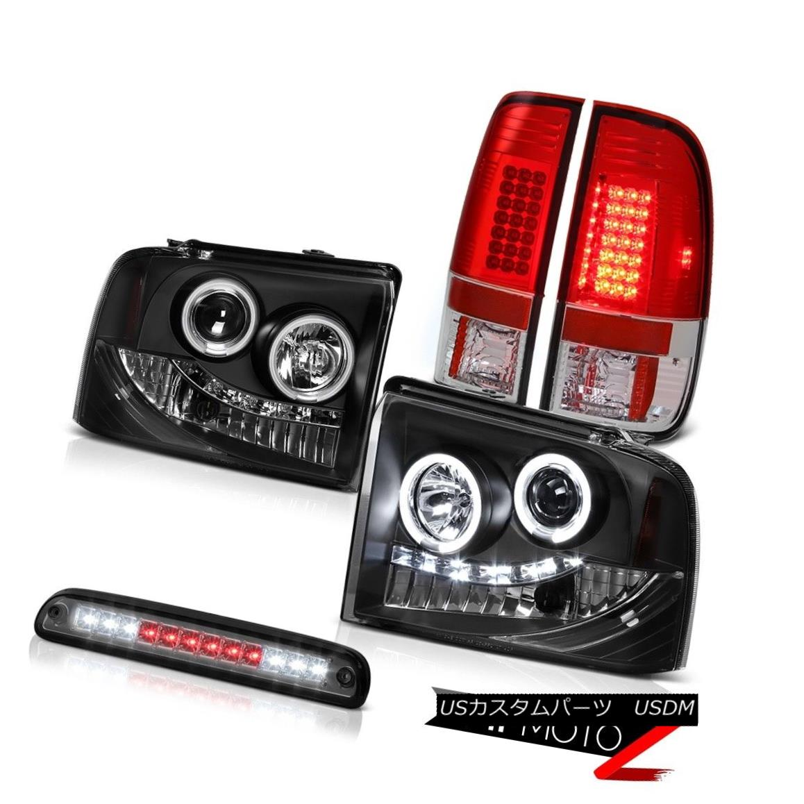 テールライト Devil's Eye CCFL Halo Headlights LED Taillights Roof Stop Tinted 05-07 F350 7.3L 悪魔の目CCFL HaloヘッドライトLED曇り屋根の止め線05-07 F350 7.3L