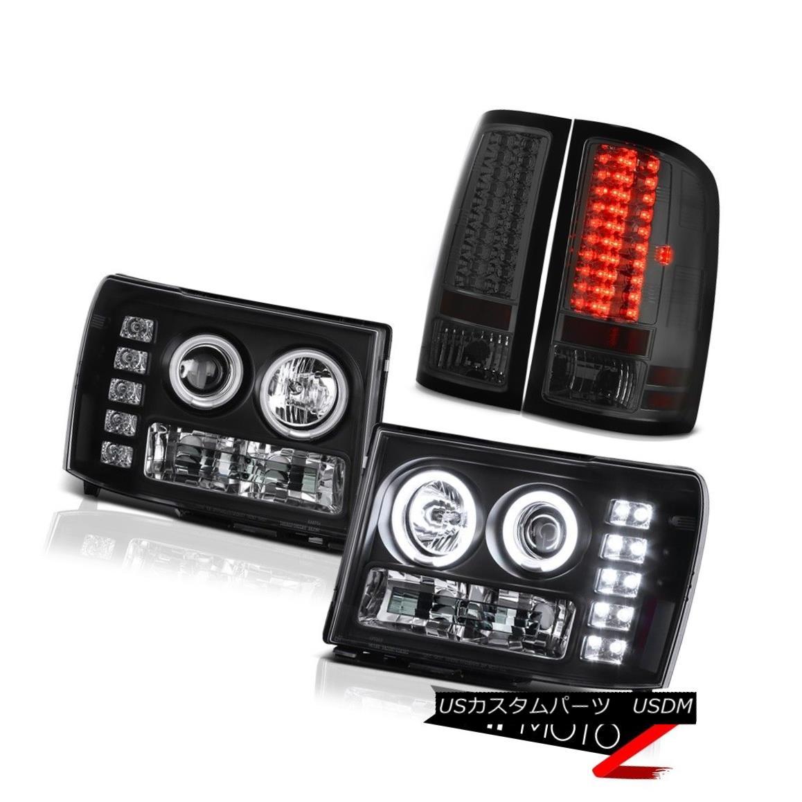 テールライト DRL CCFL Halo Ring Headlamp Dark LED Brake Tail Lamp 07 08 09 GMC Sierra 4.3L WT DRL CCFLハローリングヘッドランプダークLEDブレーキテールランプ07 08 09 GMC Sierra 4.3L WT