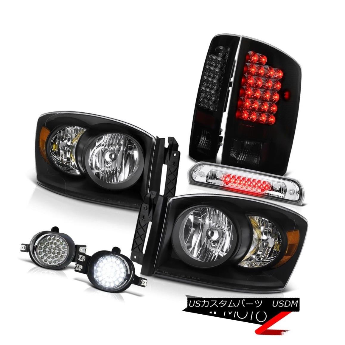 テールライト 07 2008 Ram ST Left Right Headlights LED Tail Lights Bumper Fog Chrome 3rd Brake 07 2008 Ram ST左ライトヘッドライトLEDテールライトバンパーフォグクロム第3ブレーキ