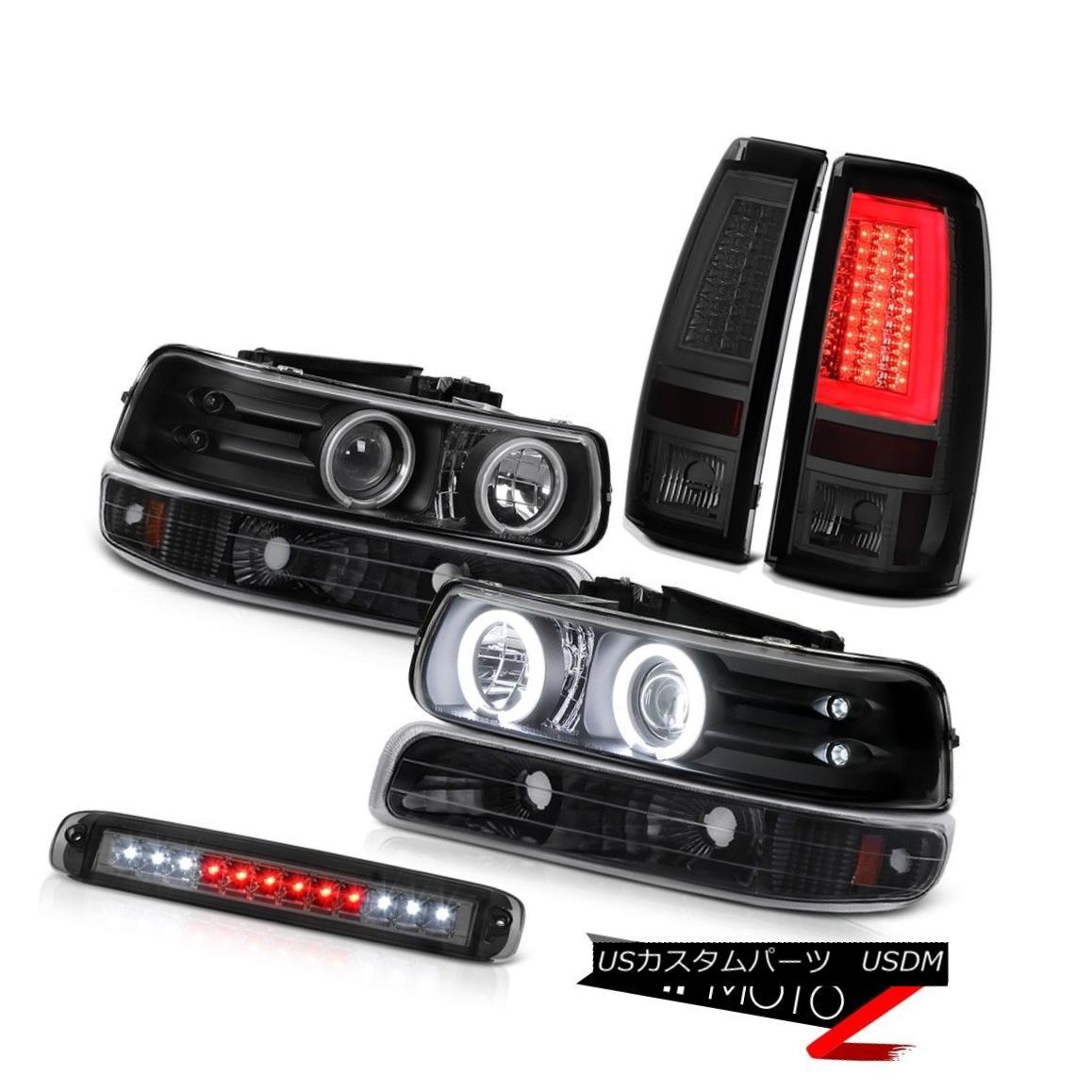 テールライト 1999-2002 Silverado WT Tail Lamps 3rd Brake Light Black Signal Headlamps Cool 1999-2002 Silverado WTテールランプ第3ブレーキライトブラック信号ヘッドランプクール