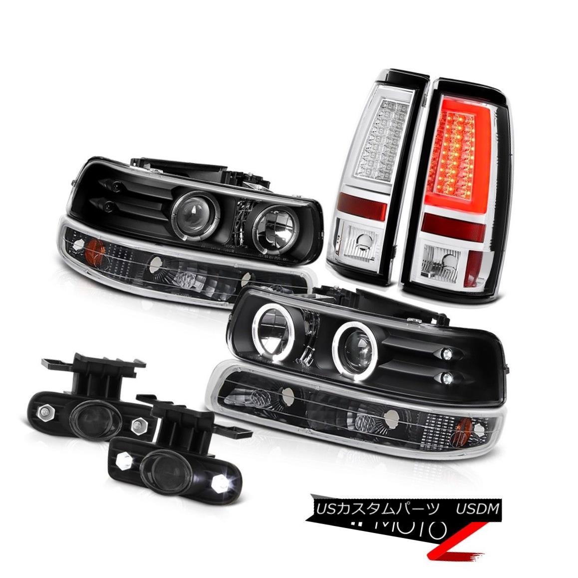 テールライト 99-02 Silverado 6.0L Tail Lamps Fog Parking Light Headlamps Angel Eyes Halo Ring 99-02 Silverado 6.0Lテールランプ霧駐車ライトヘッドランプAngel Eyes Halo Ring