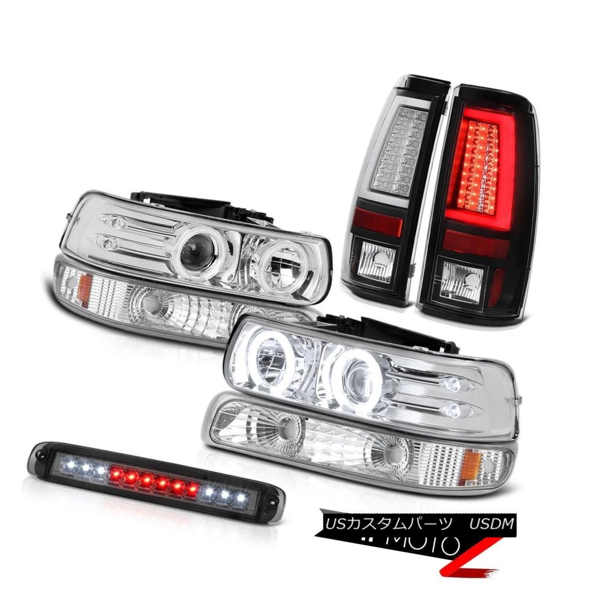 テールライト 99-02 Silverado LT Rear Brake Lamps 3rd Lamp Signal Headlights Tron Style LED 99-02 Silverado LTリアブレーキランプ3ランプ信号ヘッドライトTronスタイルLED