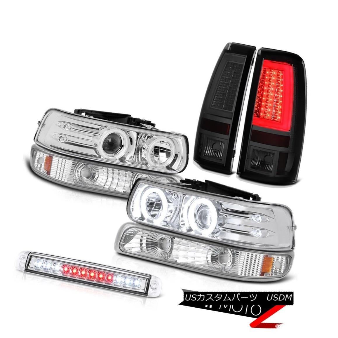 テールライト 99-02 Chevy Silverado Taillights 3rd Brake Light Signal Headlamps OLED Prism LED 99-02 Chevy Silveradoテールライト第3ブレーキ信号ヘッドランプOLED Prism LED