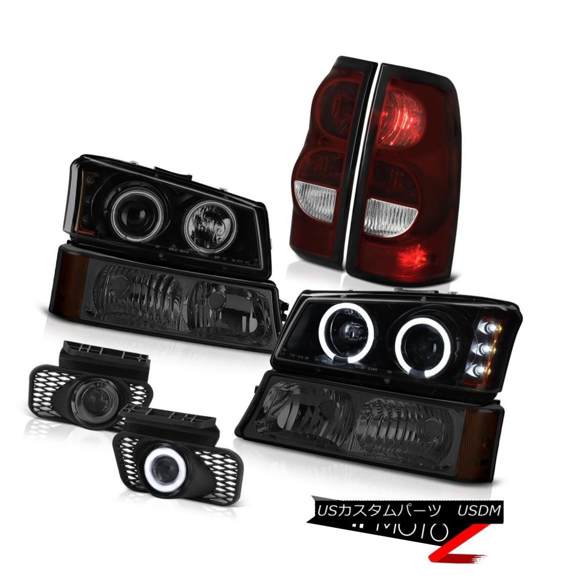 テールライト 03-06 Chevy Silverado Dark Smoke Fog Lights Tail Signal Lamp Darkest Headlamps 03-06 Chevy Silverado Dark SmokeフォグライトテールシグナルランプDarkest Headlamps