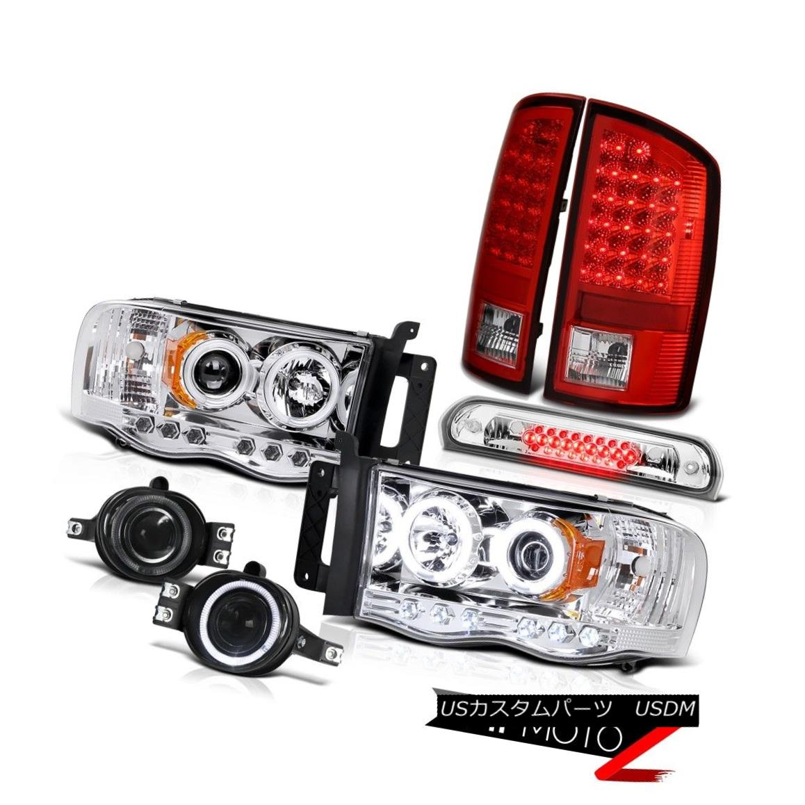 テールライト 02-05 Ram 2500 CCFL Tech Headlights LED Tail Lights Tinted Fog Roof Brake Cargo 02-05 Ram 2500 CCFLテールライトヘッドライトLEDテールライト曇り屋根用ブレーキカーゴ