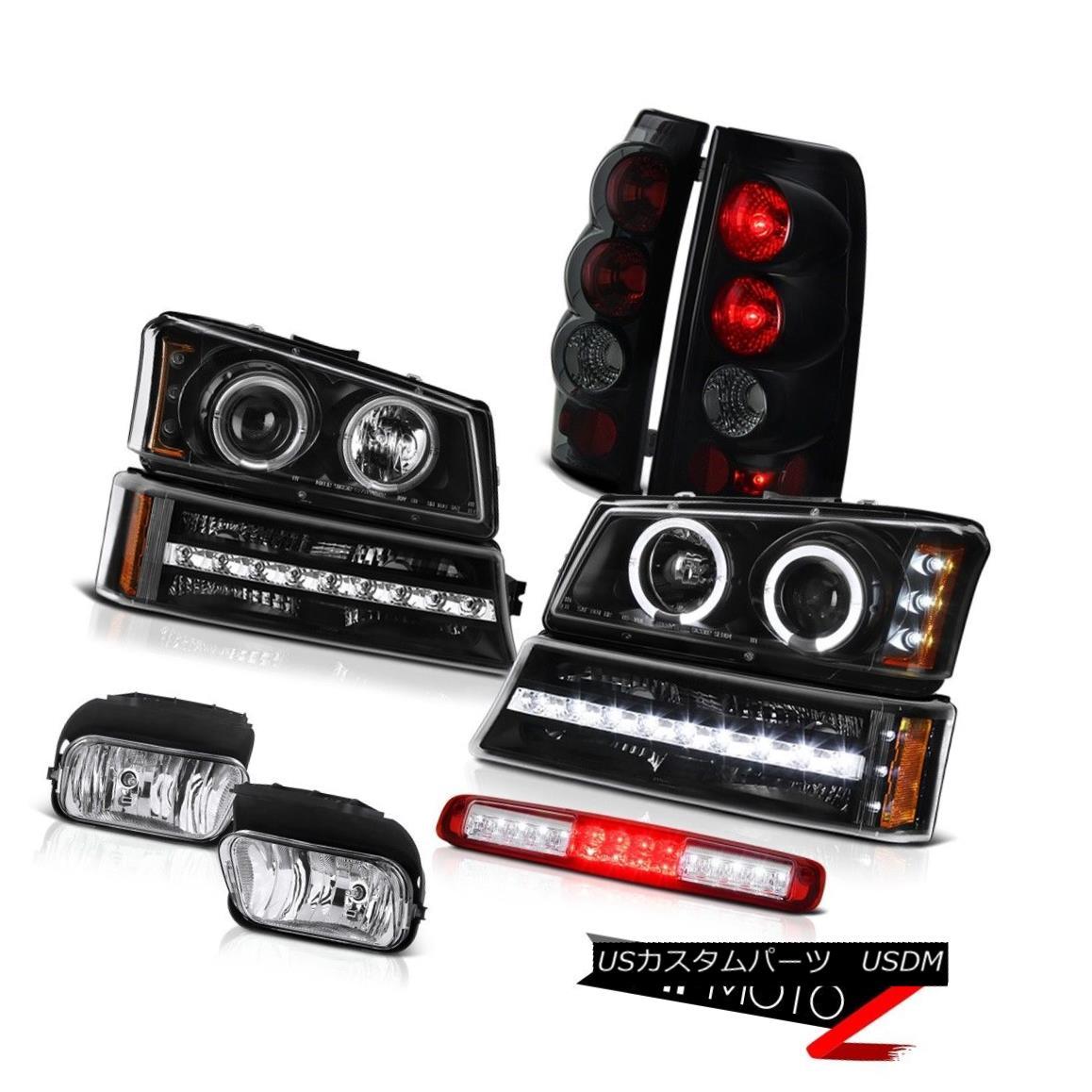 テールライト 03-06 Silverado Foglamps Red 3RD Brake Lamp Black Signal Headlights Tail Lamps 03-06 Silverado Foglamps Red 3RDブレーキランプブラックシグナルヘッドライトテールランプ