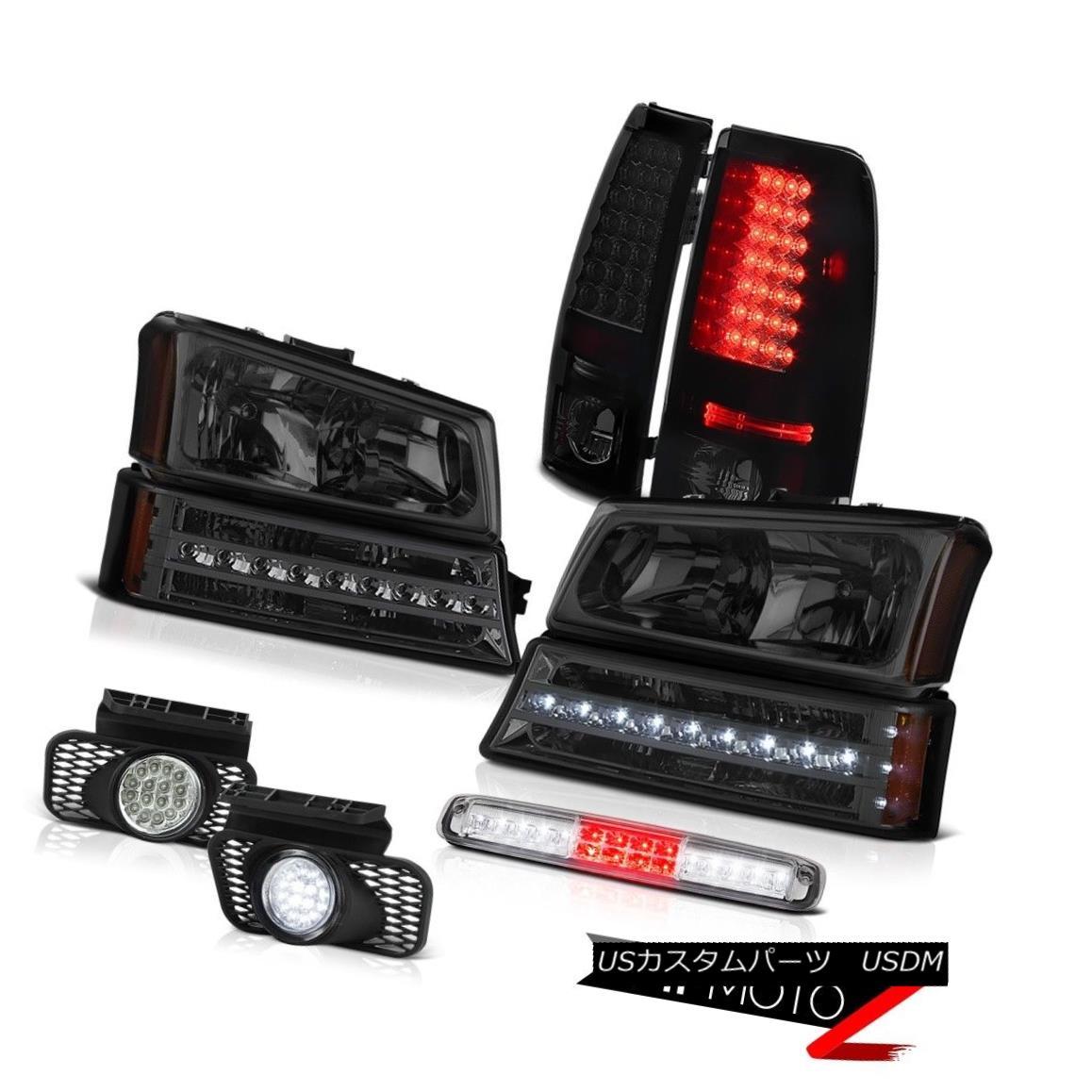テールライト 2003-2006 Silverado Roof Brake Light Headlights Foglamps Parking Taillights LED 2003年 - 2006年シルラードルーフブレーキライトヘッドライトフォグランプパーキングテールランプLED