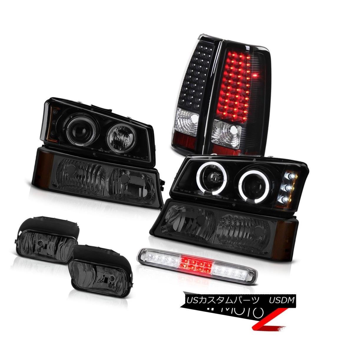 テールライト 03-06 Silverado Foglamps Bumper Light 3RD Brake Projector Headlights Taillights 03-06 Silverado Foglampsバンパーライト3RDブレーキプロジェクターヘッドライトテールライト