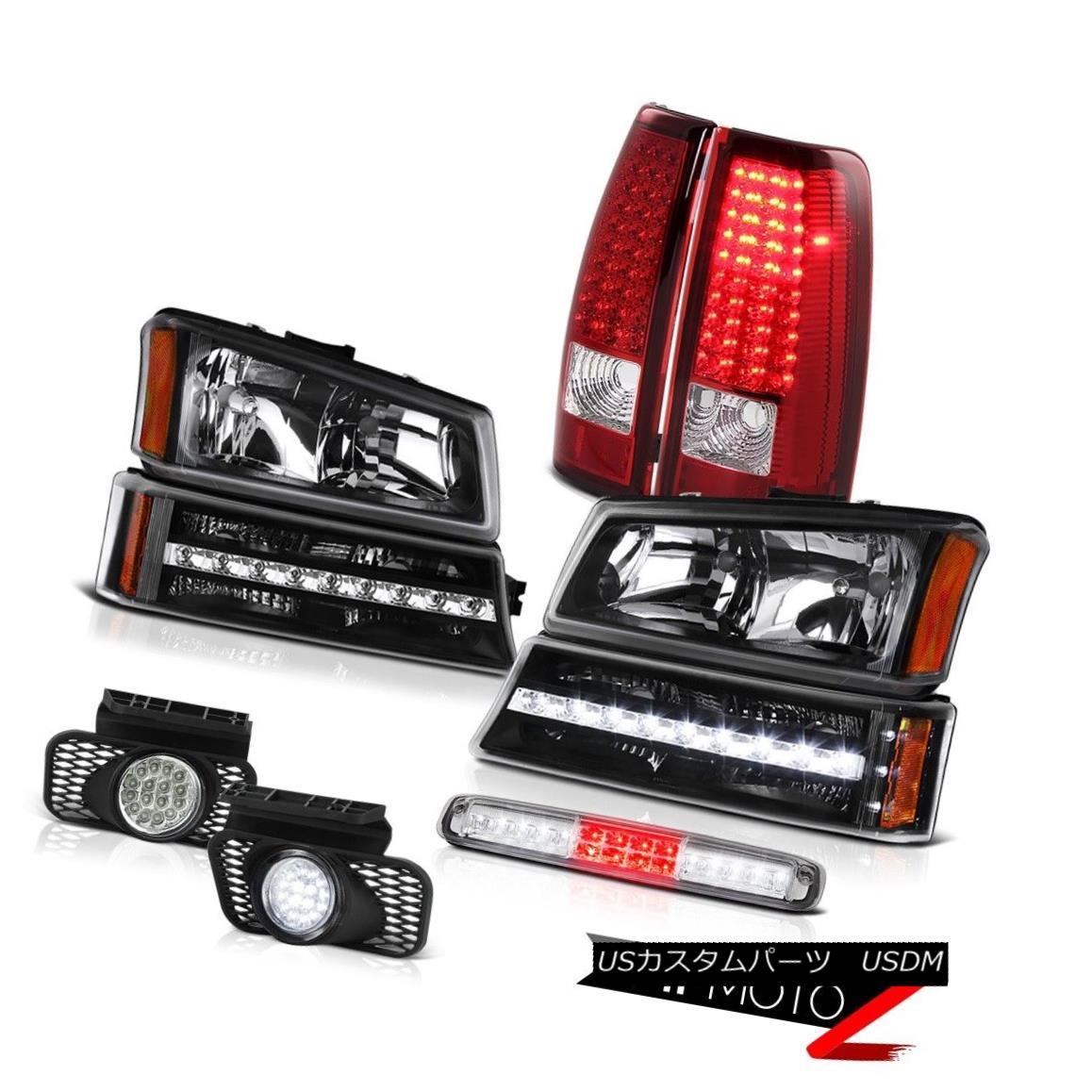 テールライト 03-06 Silverado Roof Cab Light Black Headlights Foglights Bumper Red Taillamps 03-06 Silveradoルーフキャブライトブラックヘッドライトフォグライトバンパーレッドタイルランプ