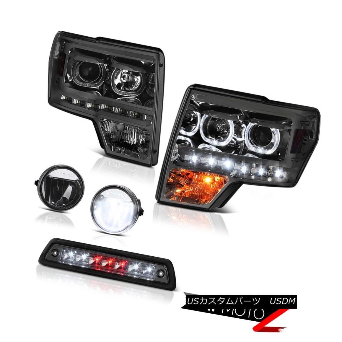テールライト 09-14 F150 6.2L Roof cargo light crystal clear fog lamps projector headlamps LED 09-14 F150 6.2LルーフカーゴライトクリスタルクリアフォグランププロジェクターヘッドライトLED