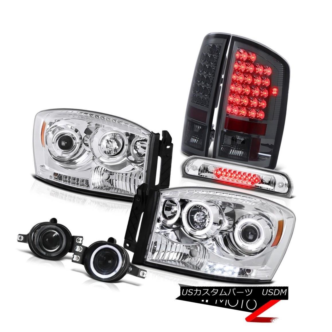 テールライト Twin LED Headlamp Smoked Taillamp Foglight High Stop Chrome 2006 Dodge Ram V6 ツインLEDヘッドランプスモークTaillamp Foglightハイストップクロム2006 Dodge Ram V6