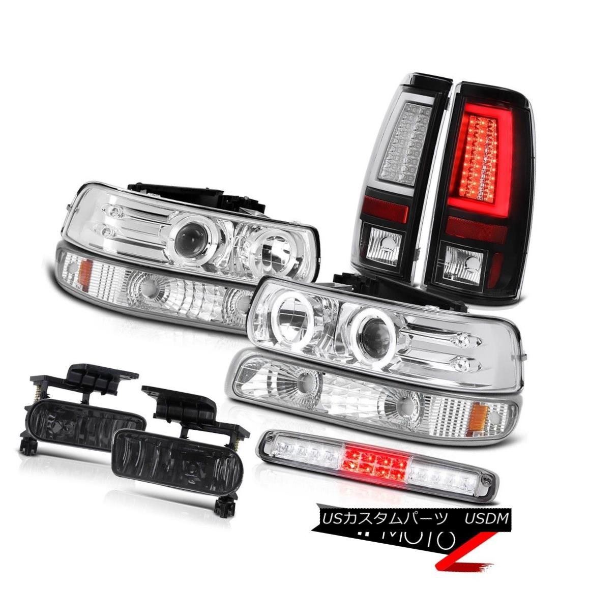 テールライト 99-02 Silverado 1500 Taillamps Parking Lamp Headlamps High Stop Fog Lamps LED 99-02 Silverado 1500 TaillampsパーキングランプヘッドランプハイストップフォグランプLED