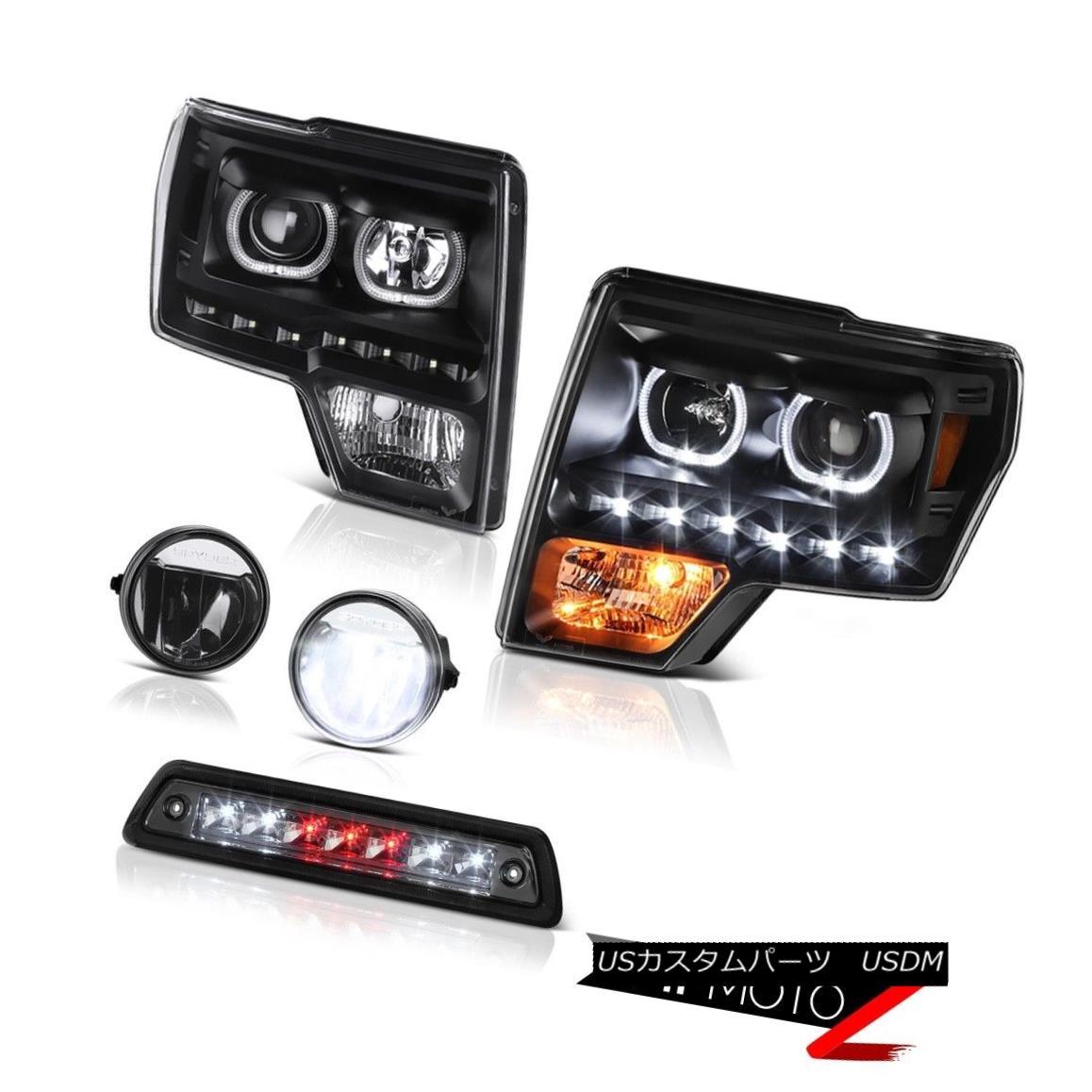 テールライト 09-14 F150 STX Smokey high stop light foglamps headlamps Angel Eyes Dual Halo 09-14 F150 STXスモーキーハイストップライトフォグランプヘッドランプエンジェルアイズデュアルヘイロー