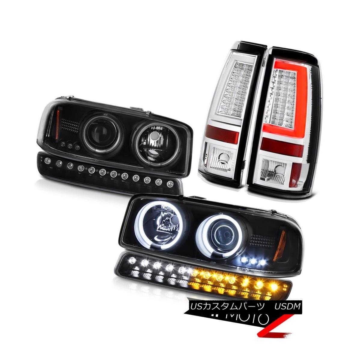 テールライト 99-06 Sierra 6.6L Euro Chrome Taillamps Signal Light CCFL Headlamps