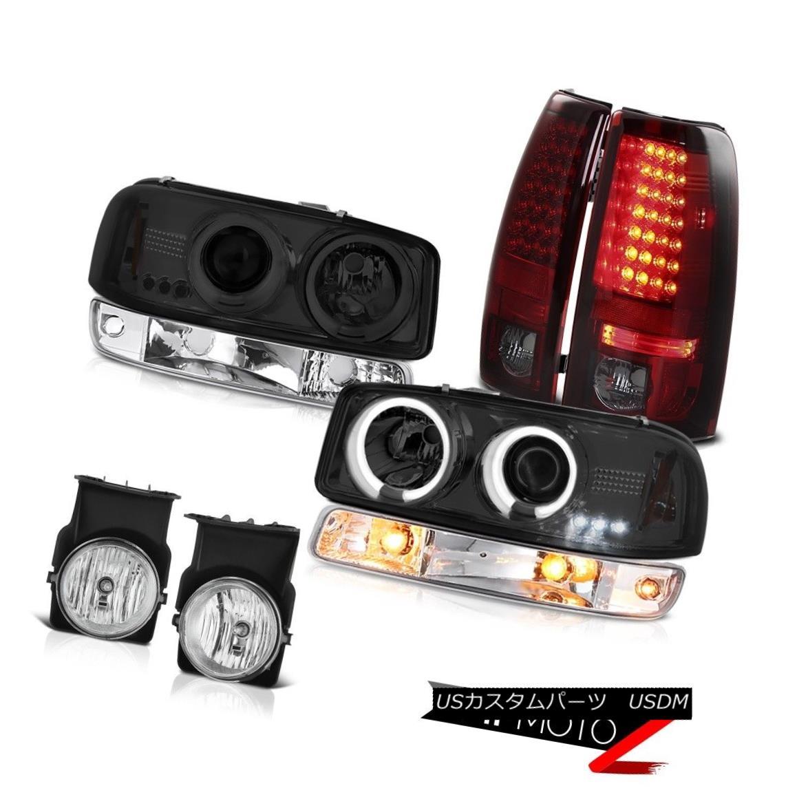 テールライト 03-06 GMC Sierra Chrome fog lights led taillights bumper light ccfl headlights 03-06 GMC Sierra Chromeフォグライトは、テールライトバンパーライトccflヘッドライトを導いた