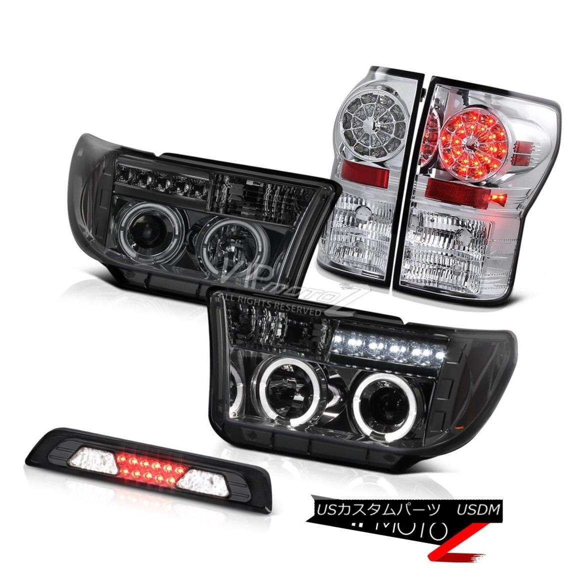 テールライト 2007-2013 Toyota Tundra SR5 3RD Brake Light Headlights Crystal Clear Taillights 2007-2013トヨタトンドラSR5 3RDブレーキライトヘッドライトクリスタルクリアテールライト