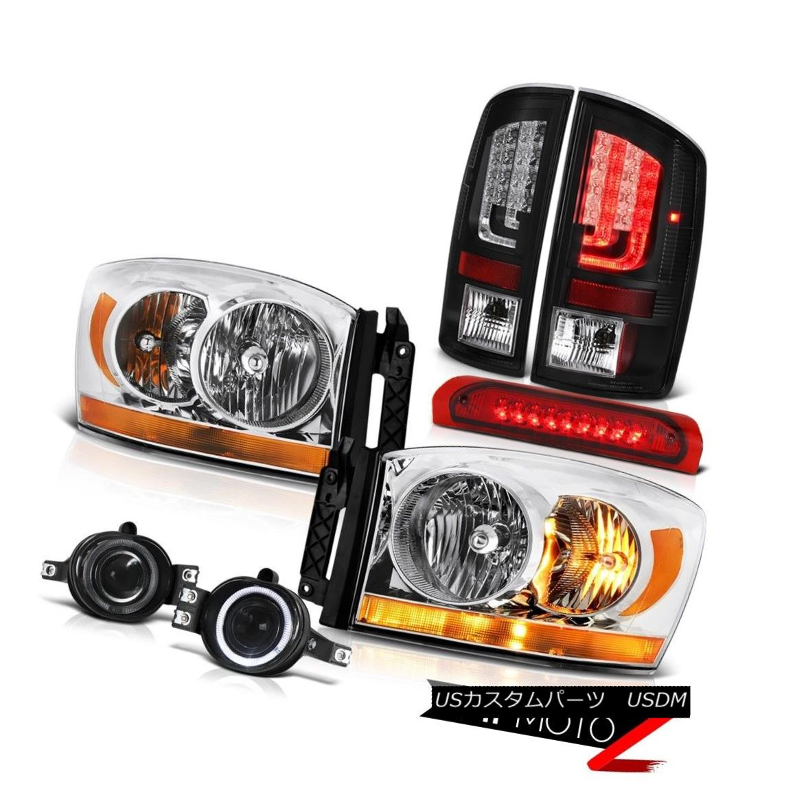 テールライト 2007-2009 Dodge Ram 3500 ST Tail Lamps Headlamps Fog Roof Cab Lamp
