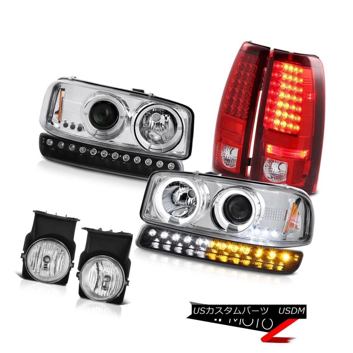 テールライト 03-06 Sierra 2500HD Chrome fog lights tail inky black signal lamp Headlamps SMD 03-06 Sierra 2500HDクロームフォグライトテールインキーブラックシグナルランプヘッドランプSMD