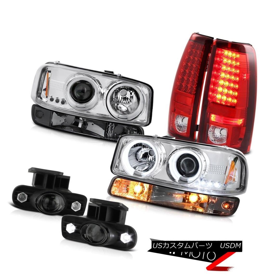テールライト 1999-2002 Sierra WT Smoked fog lamps led taillamps parking light ccfl headlights 1999-2002シエラWTスモークフォグランプは、テールランプの駐車ライトccflヘッドライトを導いた