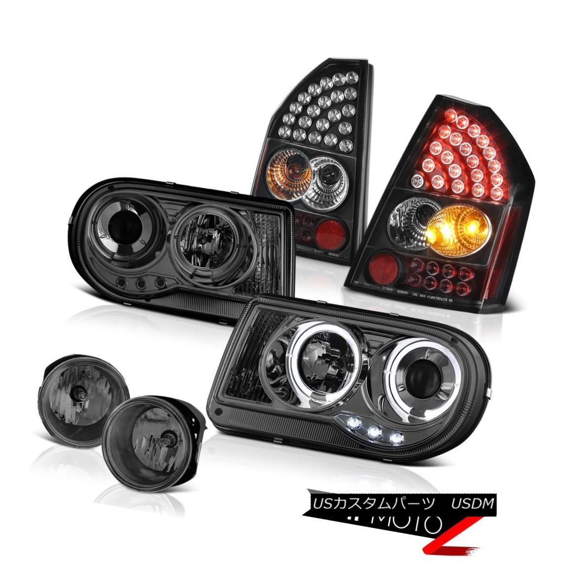 テールライト 2008-2010 Chrysler 300C 6.1L Halo Smoke Headlights Brake LED Taillights Dark Fog 2008-2010クライスラー300C 6.1Lハロー煙ヘッドライトブレーキLEDテールライトダークフォグ