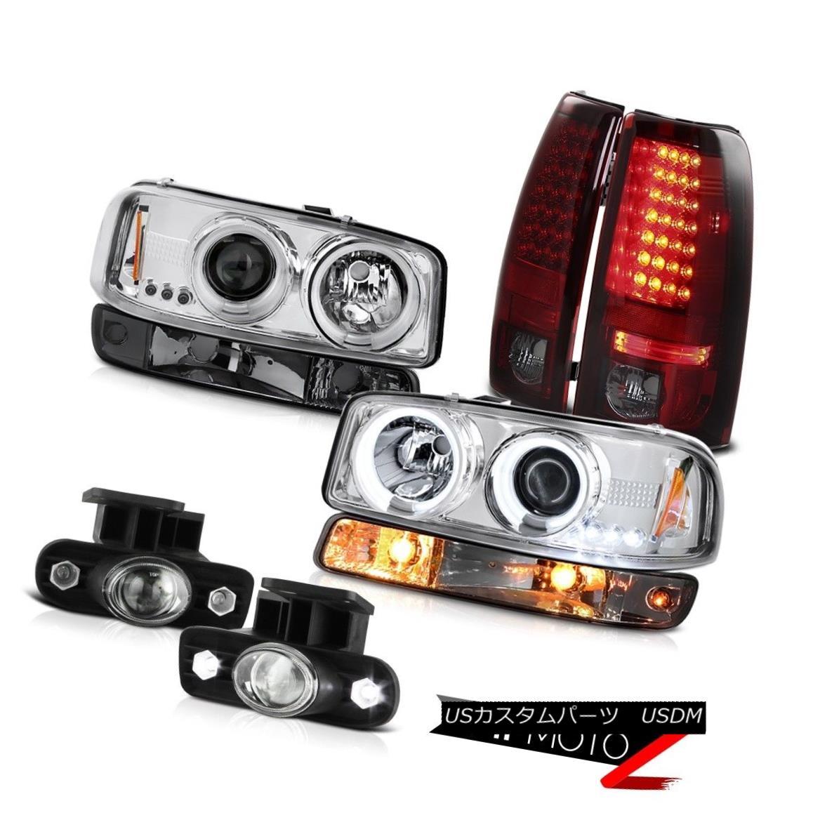 テールライト 99-02 Sierra SLT Fog lights smokey red led taillamps signal light ccfl Headlamps 99-02 Sierra SLTフォグランプスモーキーレッドテールランプ信号ライトccflヘッドランプ