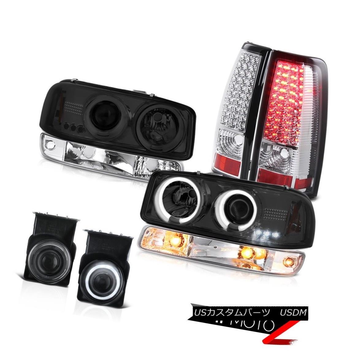 テールライト 03 04 05 06 Sierra 4.3L Smoked fog lamps tail bumper lamp ccfl Headlights LED 03 04 05 06シエラ4.3LスモークフォグランプテールバンパーランプccflヘッドライトLED