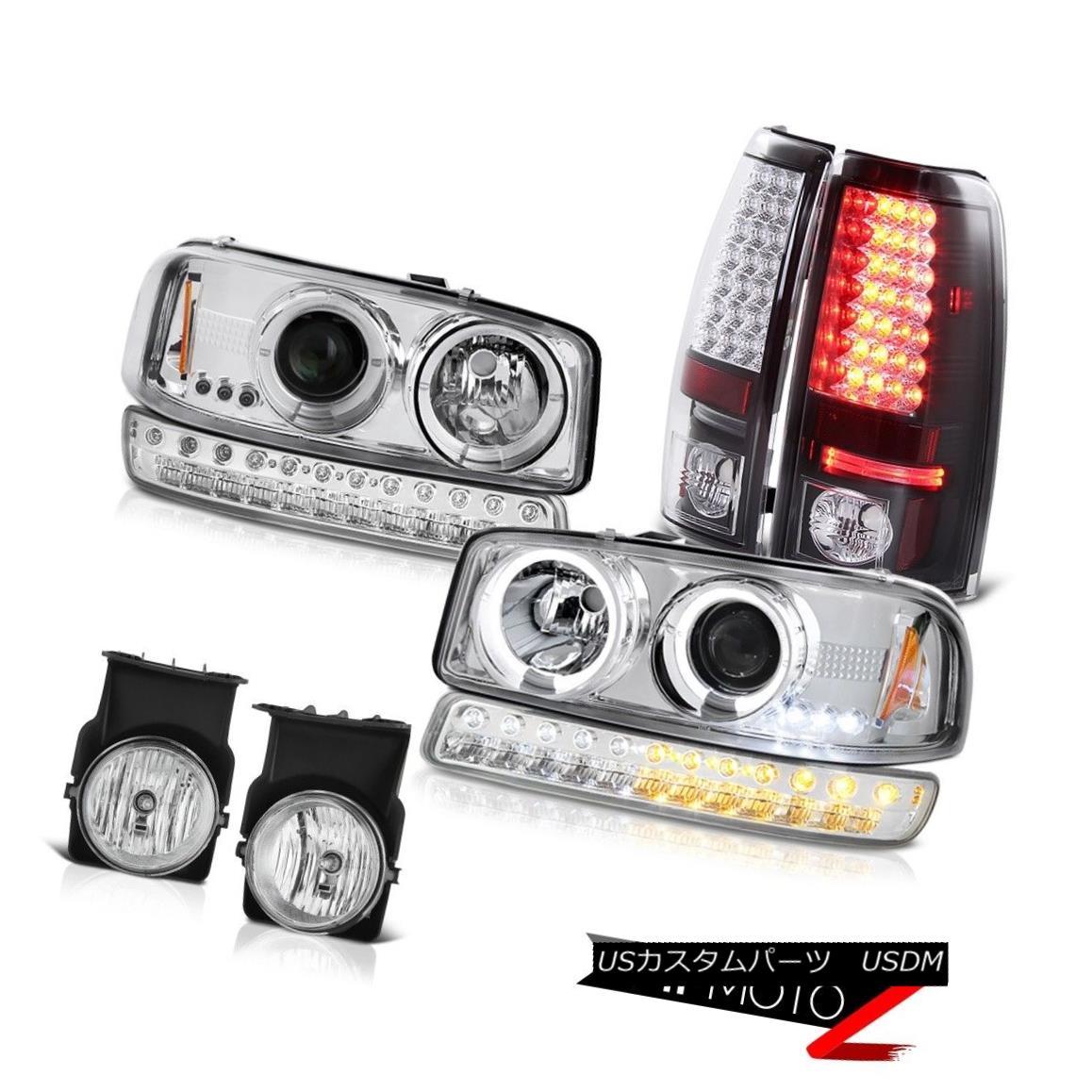 テールライト 03-06 Sierra GMT800 Foglamps Infinity Black SMD Taillamps Parking Lamp Headlamps 03-06 Sierra GMT800フォグランプインフィニティブラックとタイルランプパーキングランプヘッドランプ