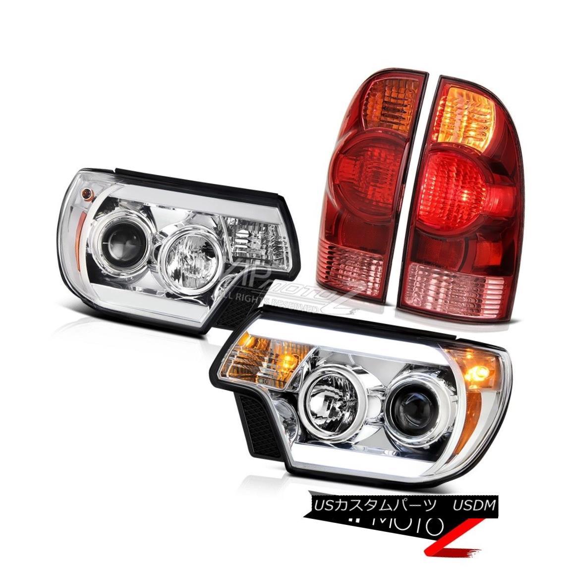 テールライト 12 13 14 15 Toyota Tacoma 4X4 Chrome headlamps wine red taillamps Neon Tube Cool 12 13 14 15トヨタタコマ4X4クロームヘッドランプワインレッドテールランプネオンチューブクール