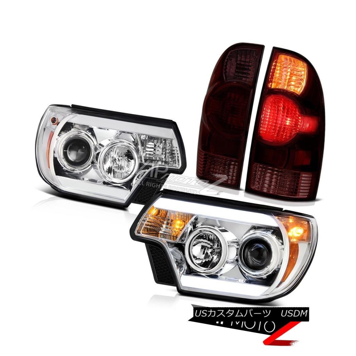 テールライト 12 13 14 15 Toyota Tacoma TRD Pro Headlamps smokey tail lamps Light Bar Newest 12 13 14 15トヨタタコマTRDプロヘッドランプスモーキーテールランプライトバー最新
