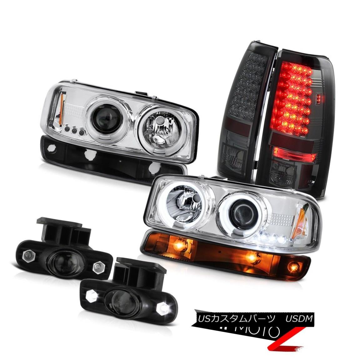 テールライト 99-02 Sierra 6.6L Foglights led tail lights parking light chrome ccfl headlamps 99-02シエラ6.6L Foglightsはテールライトの駐車場のライトクロムccflヘッドライトを導いた