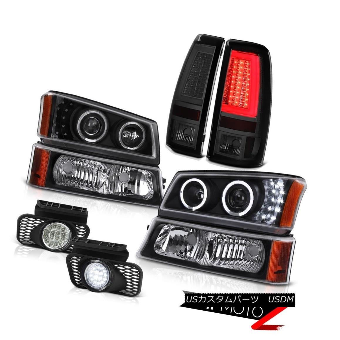 テールライト 03-06 Silverado Tail Lights Parking Light Headlights Chrome Fog LED Halo Ring 03-06 SilveradoテールライトパーキングライトヘッドライトChrome Fog LED Halo Ring