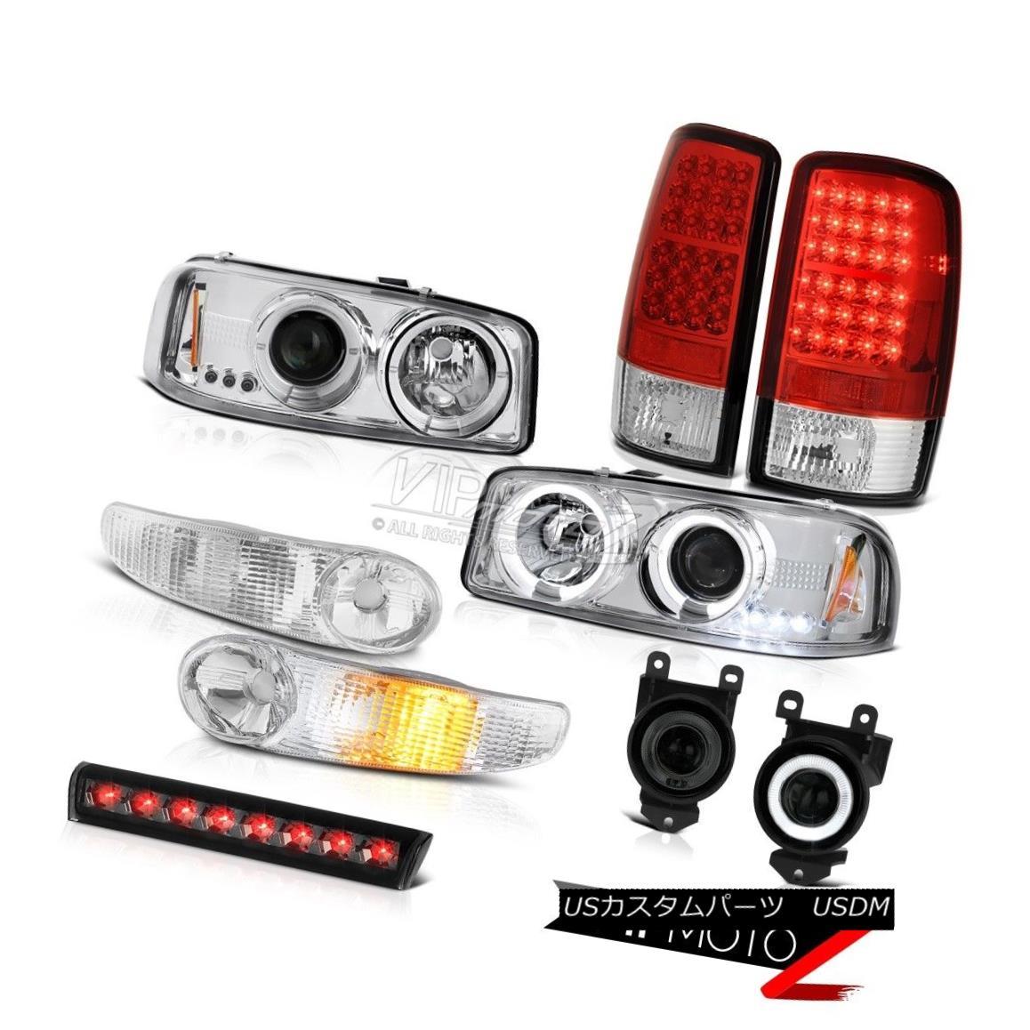 テールライト Projector Headlamps Bumper LED Bulb Brake Tail Lights Fog 01-06 Yukon XL Denali プロジェクターヘッドランプバンパーLED電球ブレーキテールライトフォグ01-06 Yukon XL Denali