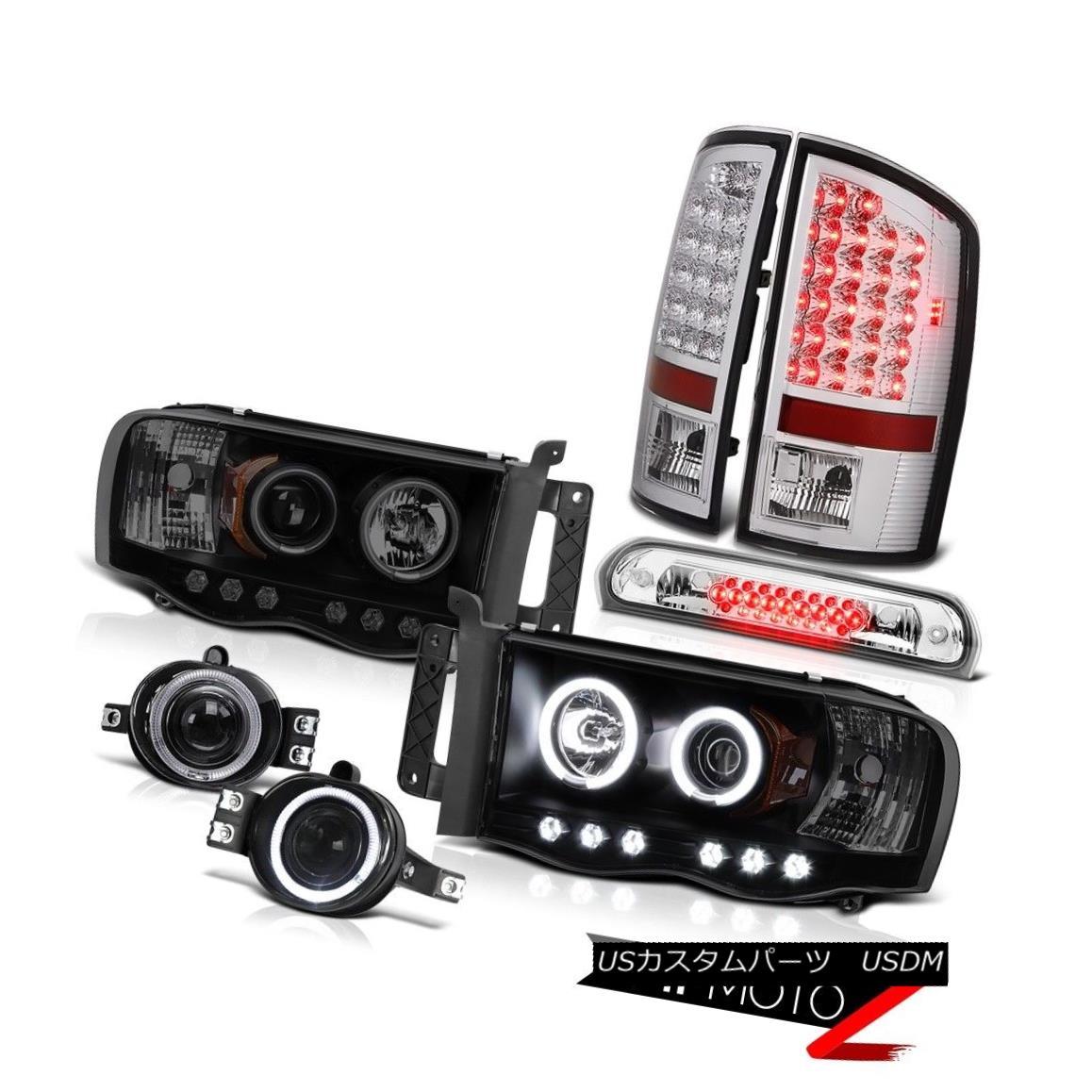 テールライト 2002-2005 Ram CCFL Angel Eye Headlight LED Tail Lights Projector Fog High Brake 2002-2005 Ram CCFLエンジェルアイヘッドライトLEDテールライトプロジェクターフォグハイブレーキ