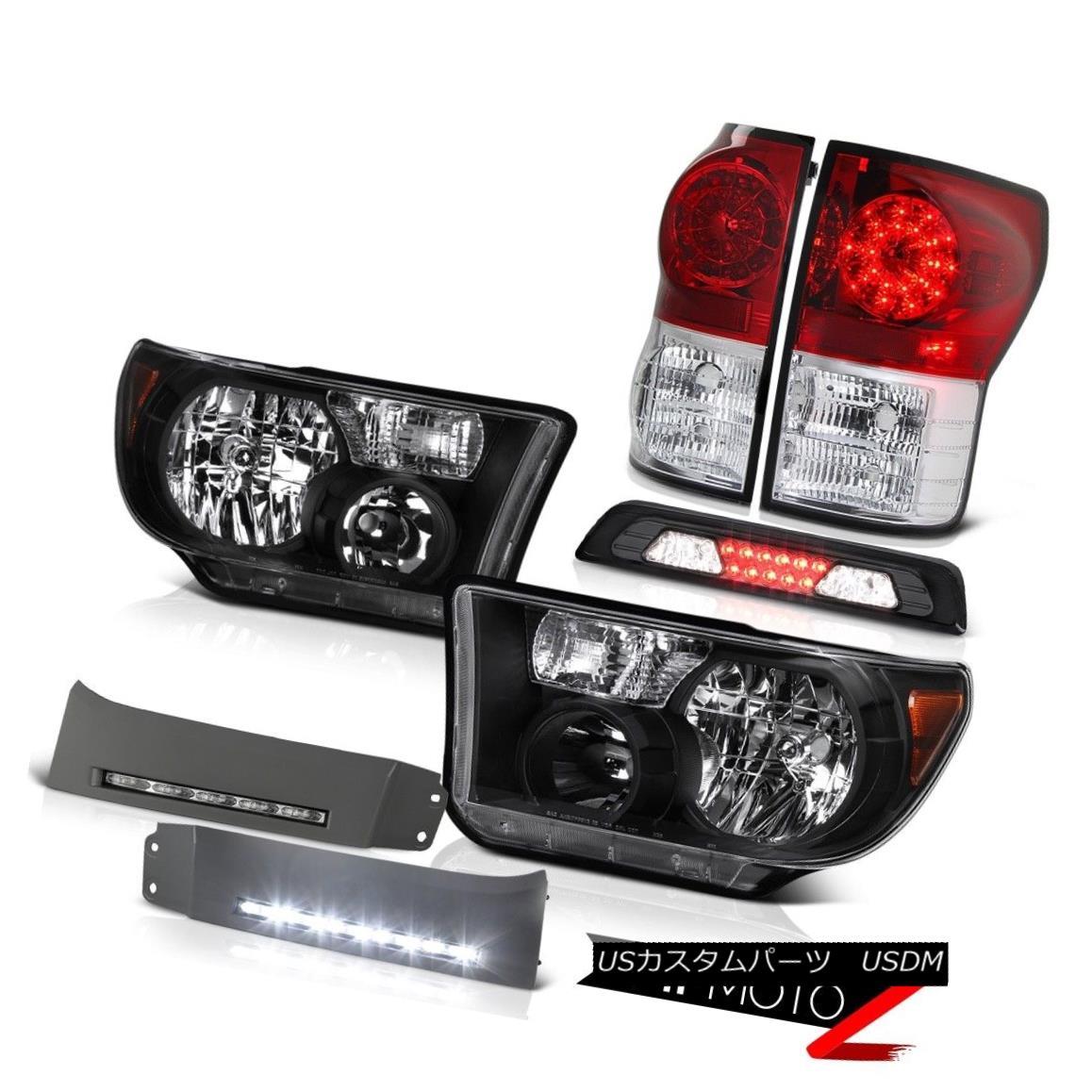 テールライト 07-13 Toyota Tundra Limited Headlamps DRL Strip Third Brake Light Rear Lights 07-13トヨタ・トンドラ・リミテッドヘッドランプDRLストリップ・サード・ブレーキライト・リアライト