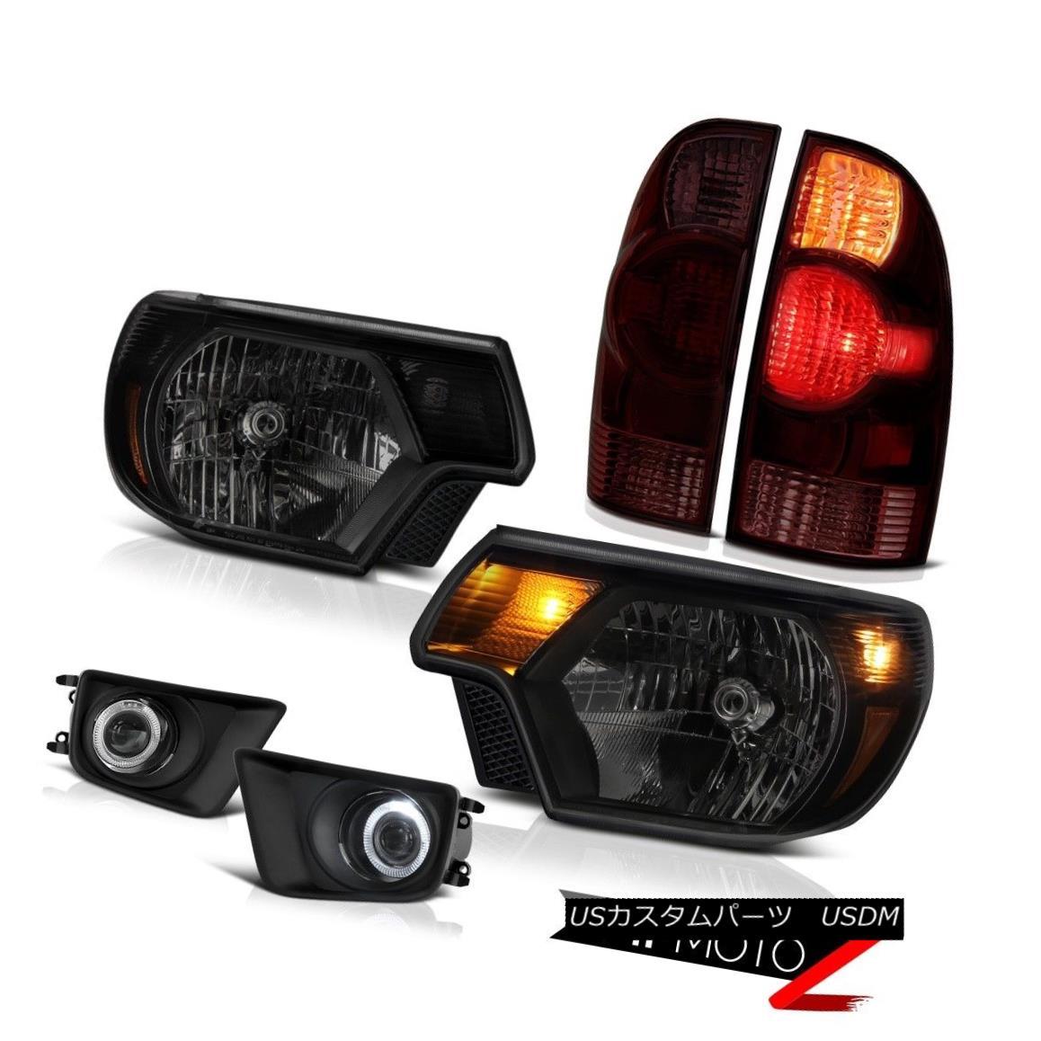 テールライト 12-15 Toyota Tacoma 4WD Fog lights darkest smoke headlamps taillamps Assembly 12-15トヨタタコマ4WDフォグライト最も暗い煙ヘッドランプテールランプアセンブリ
