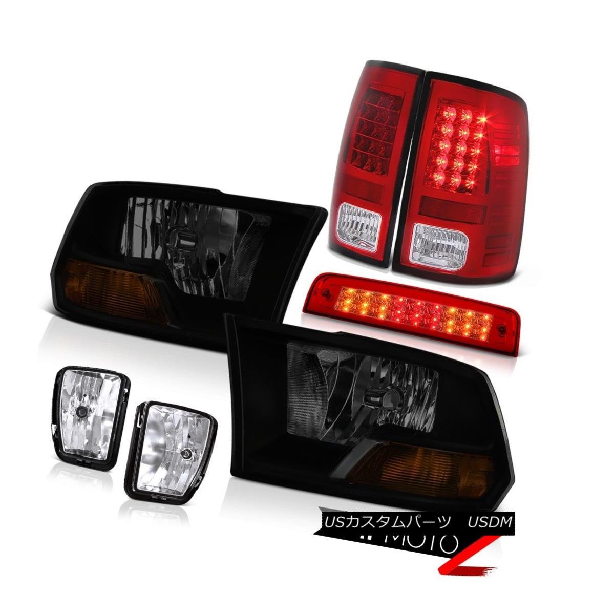 テールライト 13-18 Ram 1500 Lamarie Wine Red 3RD Brake Light Fog Lights Taillamps Headlamps 13-18ラム1500ララミーワインレッド3RDブレーキライトフォグライトテールランプヘッドランプ