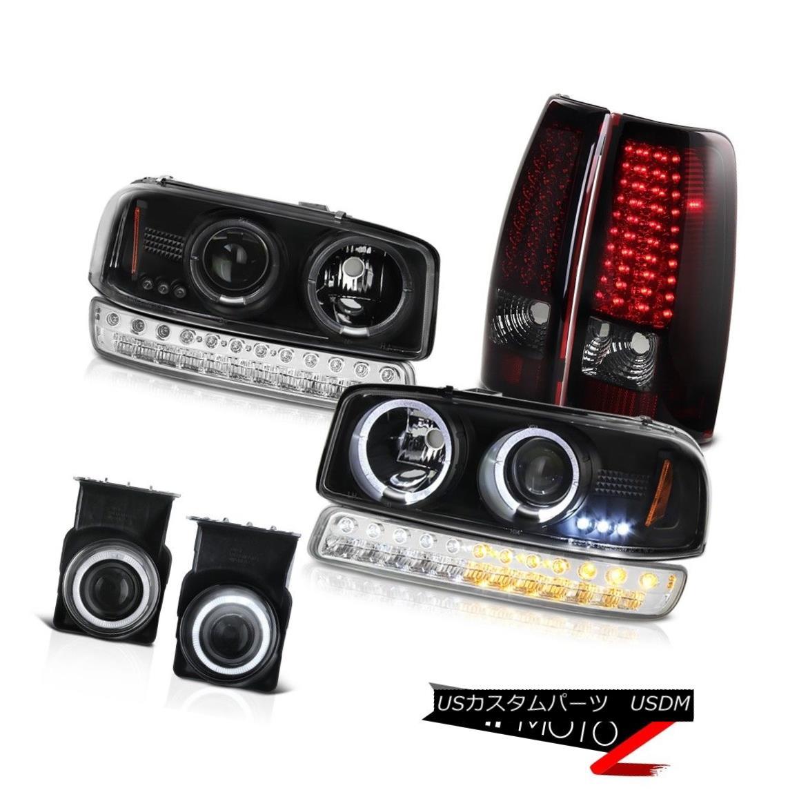 テールライト 03-06 Sierra 2500HD Foglamps Burgundy Red SMD Taillights Parking Lamp Headlamps 03-06 Sierra 2500HDフォグランプバーガンディーレッドSMDテールライトパーキングランプヘッドランプ