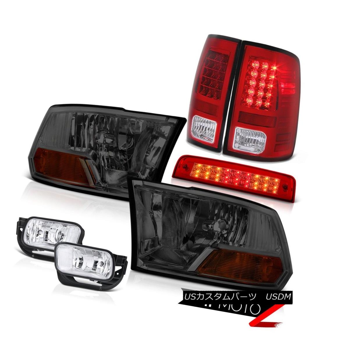 テールライト 2010-2018 Ram 3500 6.7L 3RD Brake Light Fog Lights Rear Headlamps CrySTal Lens 2010-2018 Ram 3500 6.7L 3RDブレーキライトフォグライトリアヘッドランプCrySTalレンズ