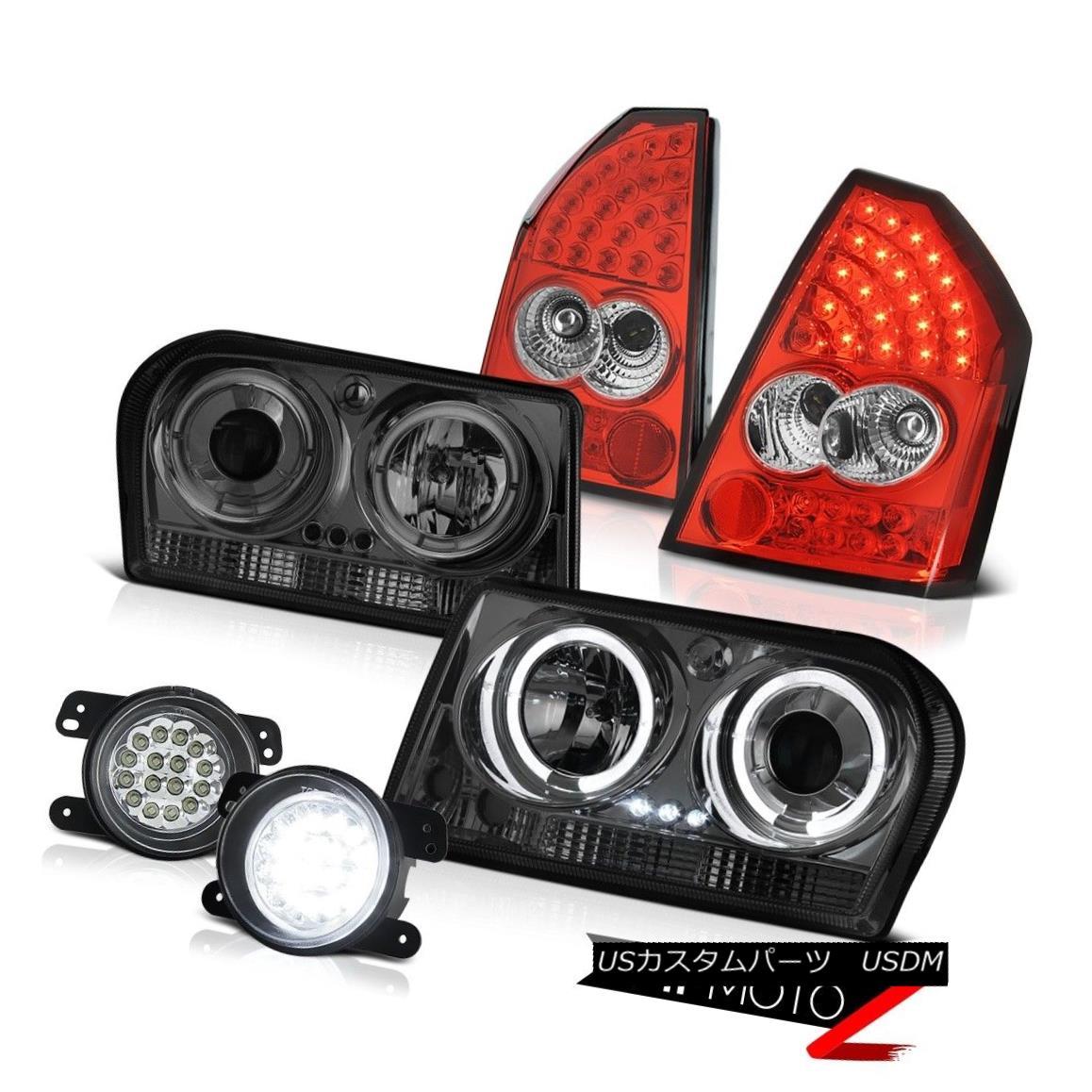 テールライト 2005-2007 Chrysler 300 Touring Angel Eye Headlights LED Tail Lights SMD Foglamps 2005-2007クライスラー300ツーリングエンジェルアイヘッドライトLEDテールライトとフォグランプ
