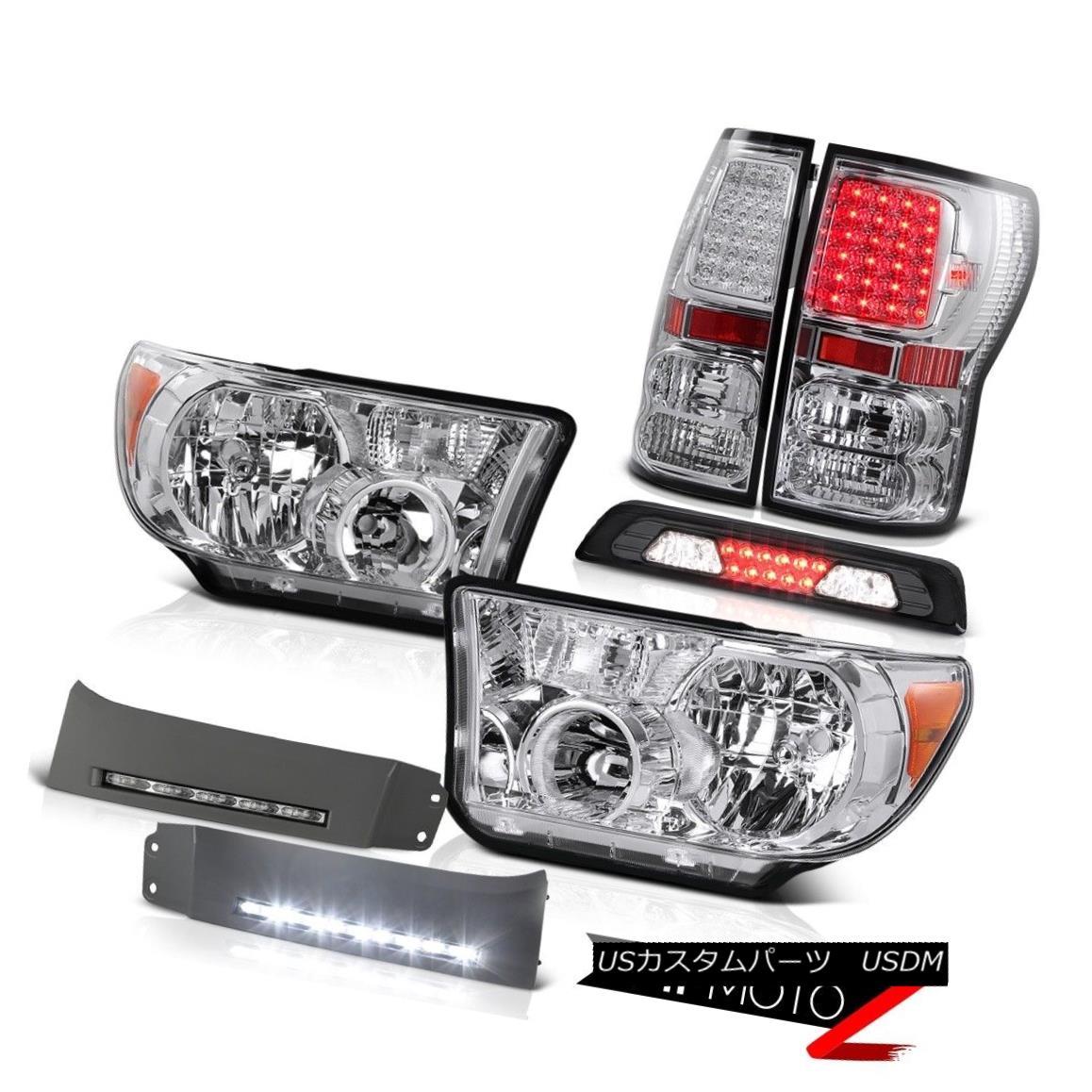 テールライト 2007-2013 Toyota Tundra Limited Headlamps DRL Strip Third Brake Light Taillamps 2007-2013トヨタ・トンドラ・リミテッドヘッドランプDRLストリップ・サード・ブレーキ・ライト・タイヤランプ