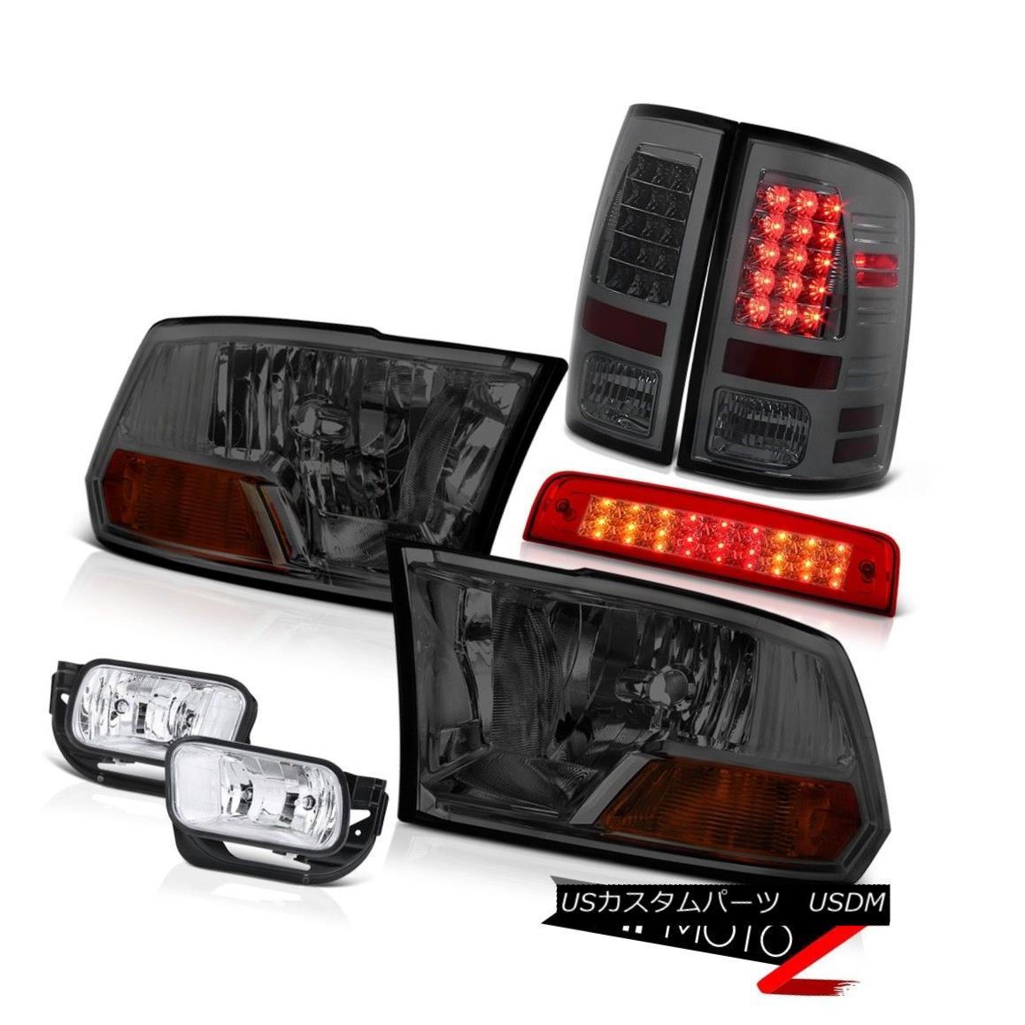 テールライト 09-13 Ram 1500 6.7L Wine Red Roof Cab Lamp Foglights Smokey Taillamps Headlamps 09-13ラム1500 6.7Lワインレッドキャビネットランプフォグライトスモーキータイランプヘッドランプ