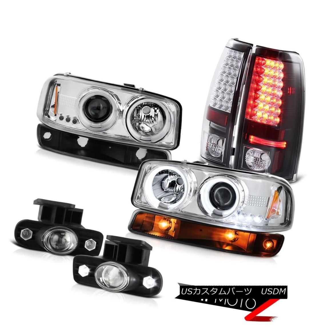 テールライト 1999-2002 Sierra 3500HD Chrome fog lamps smd tail signal lamp ccfl Headlights 1999-2002シエラ3500HDクロームフォグランプsmdテールシグナルランプccflヘッドライト