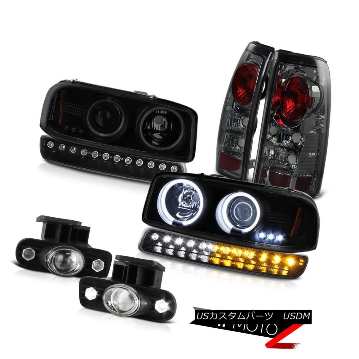 テールライト 99-02 GMC Sierra Foglights taillamps parking lamp ccfl projector headlights LED 99-02 GMC Sierra Foglightsテールランプ・パーキング・ランプccflプロジェクター・ヘッドライトLED
