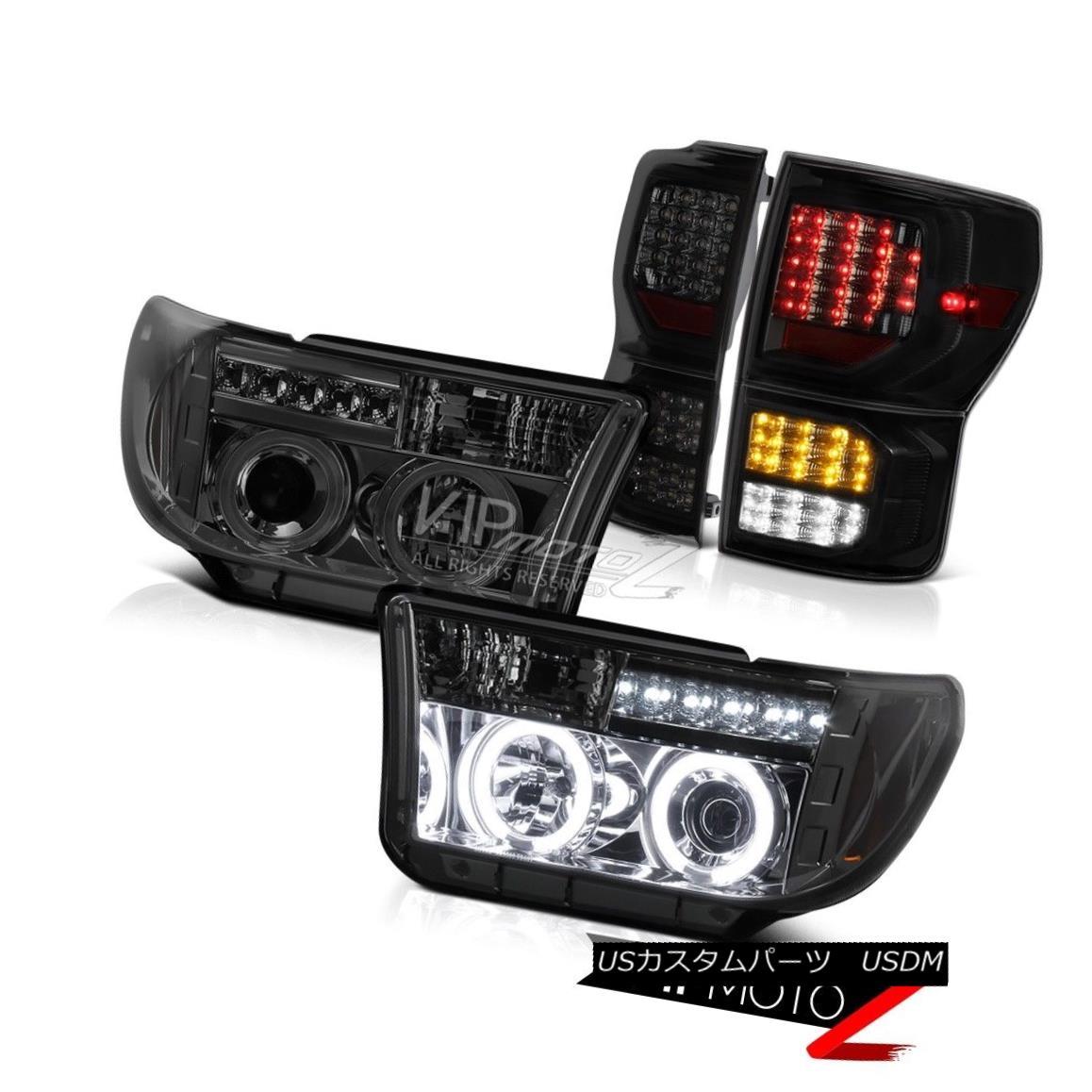 テールライト 2007-2013 Toyota Tundra SR5 Tail Lights Projector Headlights 2X CCFL Halo Newest 2007-2013 Toyota Tundra SR5テールライトプロジェクターヘッドライト2X CCFL Halo Newest