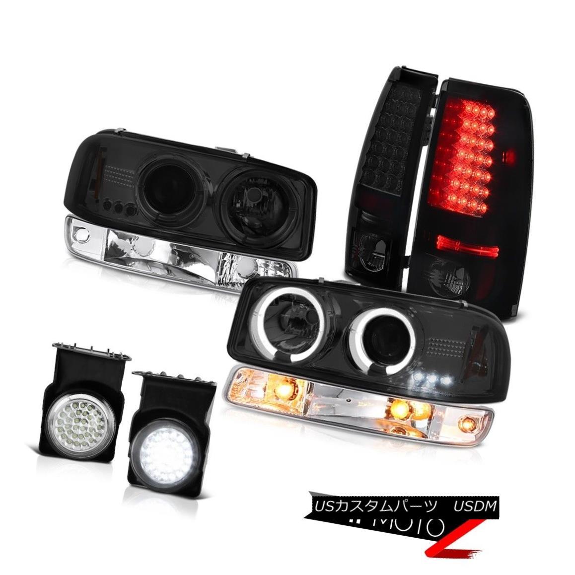 テールライト 2003-2006 Sierra 1500 Fog lights smoke tinted tail parking lamp dark Headlamps 2003-2006シエラ1500霧ライト淡色テールパーキングランプダークヘッドランプ