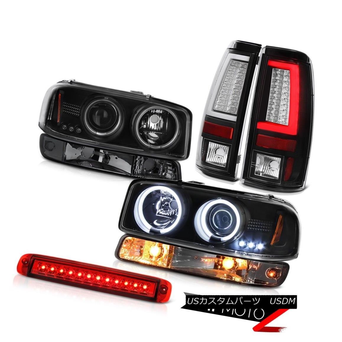 テールライト 99-06 Sierra 6.6L Taillamps 3RD Brake Light Signal CCFL Headlamps LED Angel Eyes 99-06 Sierra 6.6L Taillamps 3RDブレーキライト信号CCFLヘッドランプLEDエンジェルアイズ
